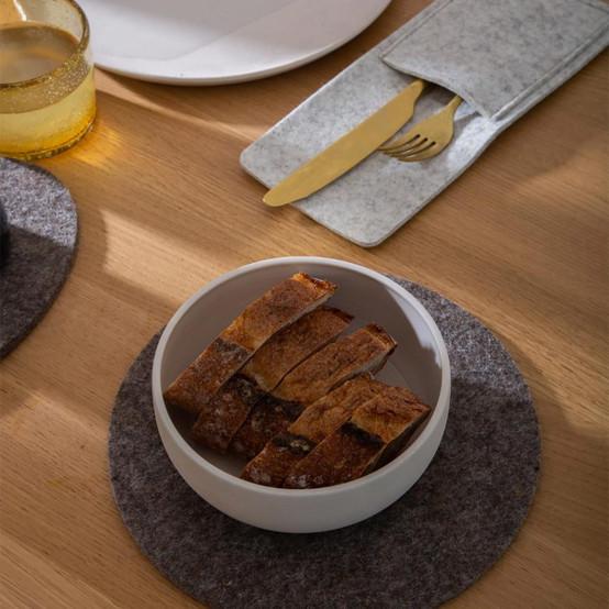Kigu Utensil Pocket in Granite, 2 Pack