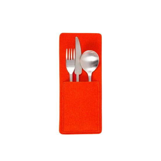 Kigu Utensil Pocket in Orange, 2 Pack