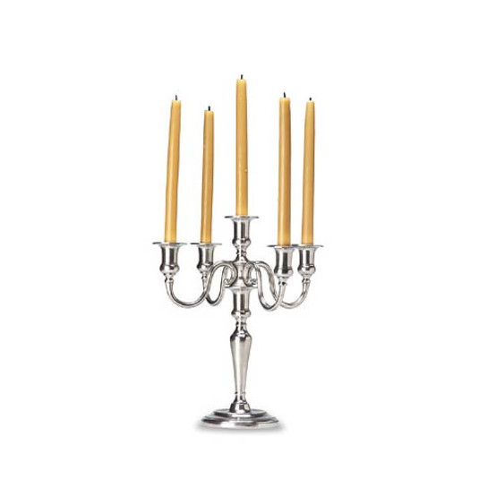 Match Pewter Five Flame Candelabra
