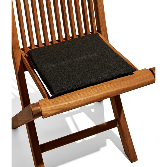 Viken Seat Cushion with Natte Soot Fabric