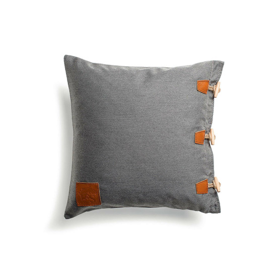 Hemse Pillow in Charcoal Chiné