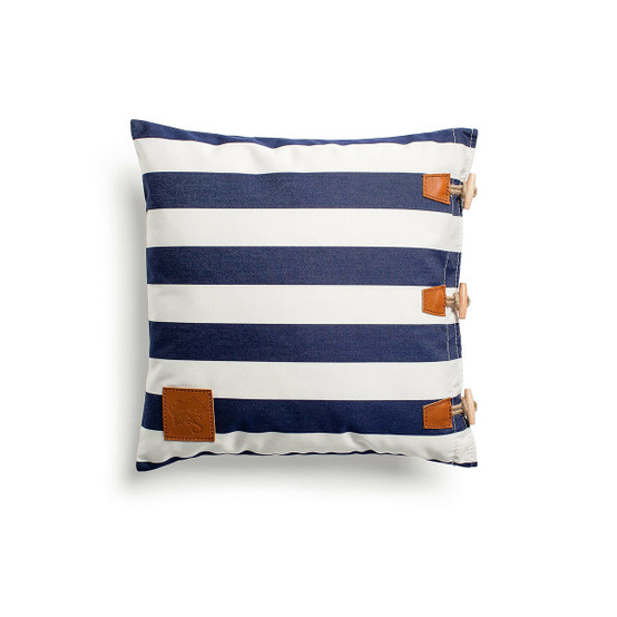 Hemse Pillow in Navy Yacht Stripes
