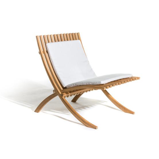 Nozib Lounge Chair Cushion with Natte White Fabric