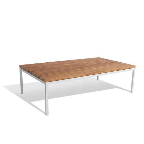 Bönan Small Lounge Table in Teak with Light Grey Frame
