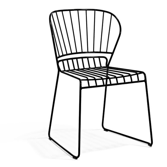 Resö Dining Chair with Black Frame