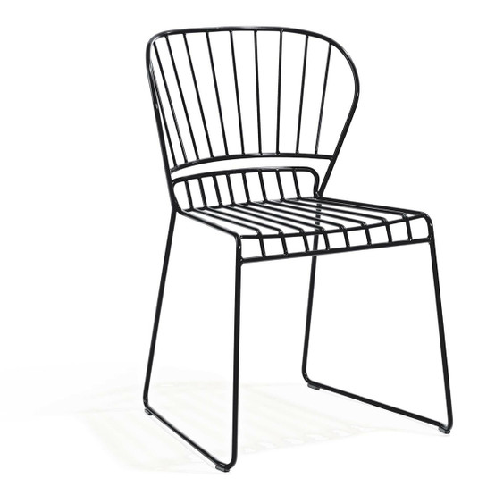 Resö Dining Chair with Charcoal Grey Frame