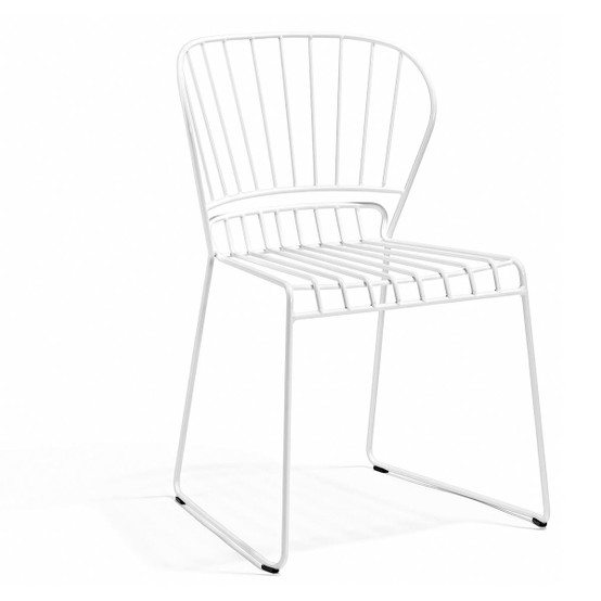 Resö Dining Chair with White Frame