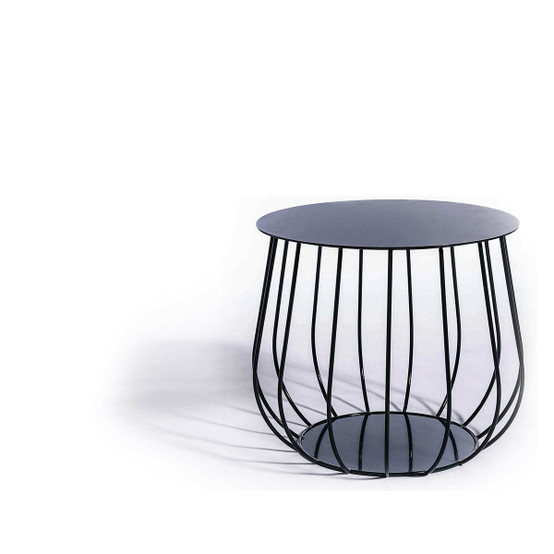 Resö Straight Bar Lounge Table with Black Frame