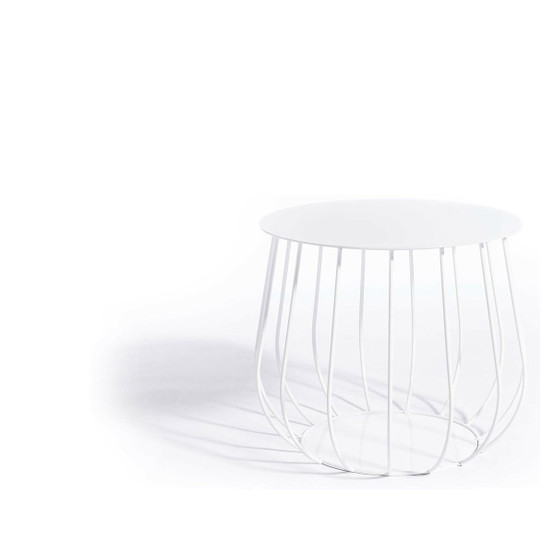 Resö Straight Bar Lounge Table with White Frame