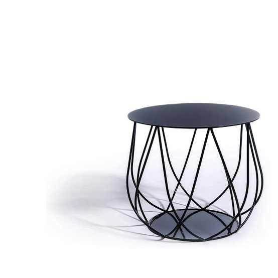 Resö Crossed Bar Lounge Table with Black Frame
