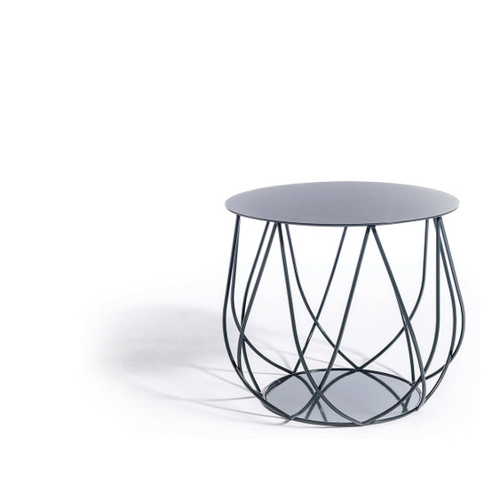 Resö Crossed Bar Lounge Table with Charcoal Grey Frame