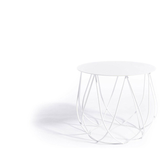 Resö Crossed Bar Lounge Table with White Frame