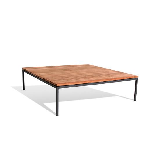 Bönan Large Lounge Table in Teak with Light Grey Frame