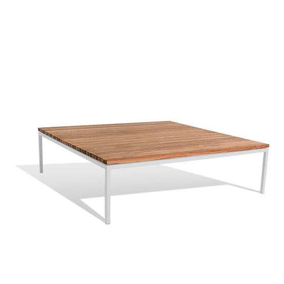 Bönan Large Lounge Table in Teak with Dark Grey Frame