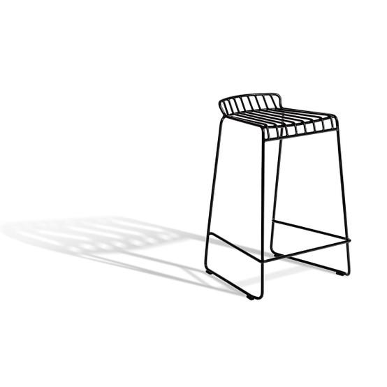 Resö Low Bar Chair in Black