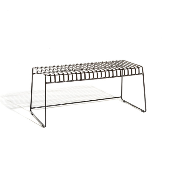 Resö Bench with Charcoal Grey Frame