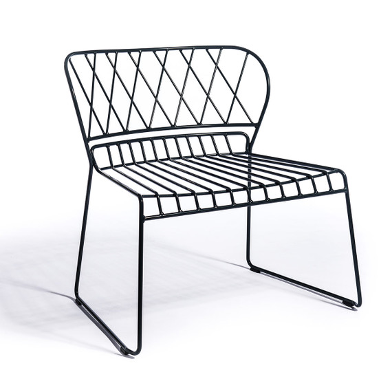 Resö Lounge Chair with Black Frame