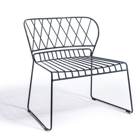 Resö Lounge Chair with Charcoal Frame