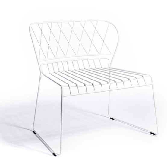 Resö Lounge Chair with White Frame