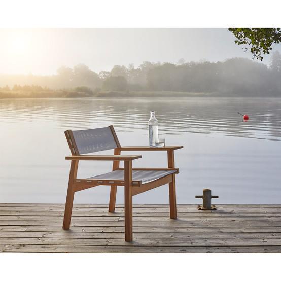 Djurö Lounge Armchair in Teak and Fabric