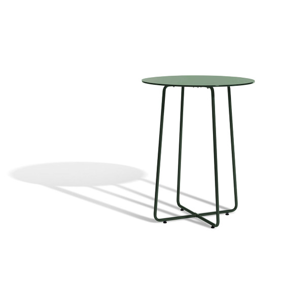 Resö Small Dining Table with Dark Green Frame
