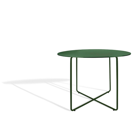 Resö Large Dining Table with Dark Green Frame
