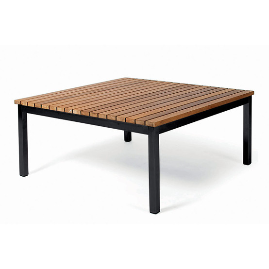 Häringe Small Lounge Table with Black Stainless Steel Frame