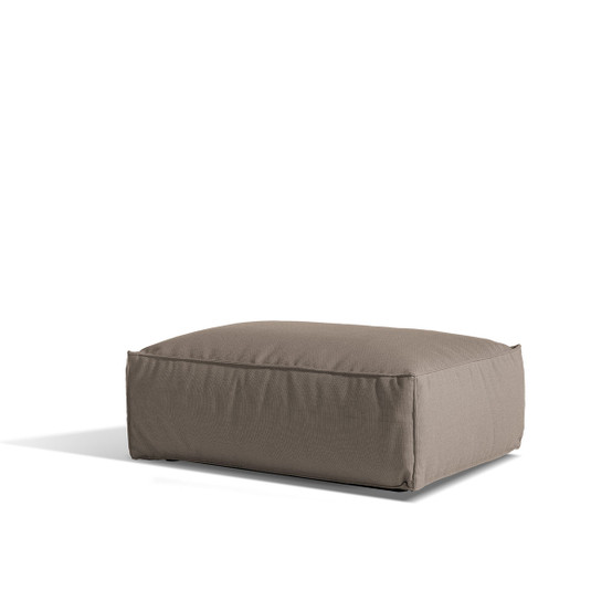 Asker Sofa Ottoman with Beige Sling Logan Taupe Cushions