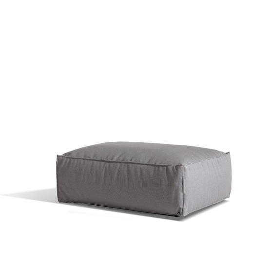 Asker Sofa Ottoman with Light Grey Sling Sailing Seagull Cushions