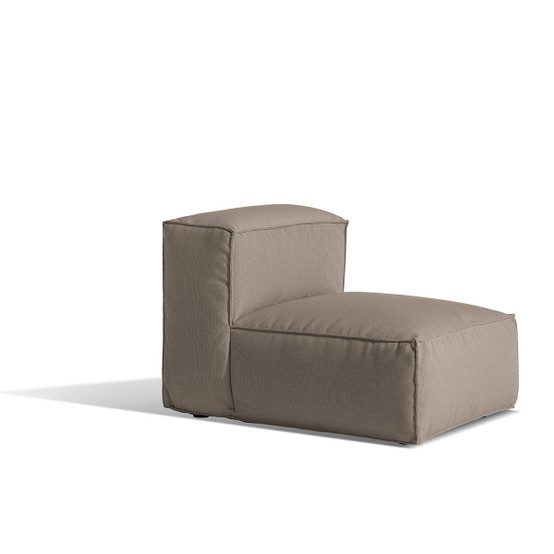 Asker Small Sofa Mid Section with Beige Sling Logan Taupe Cushions
