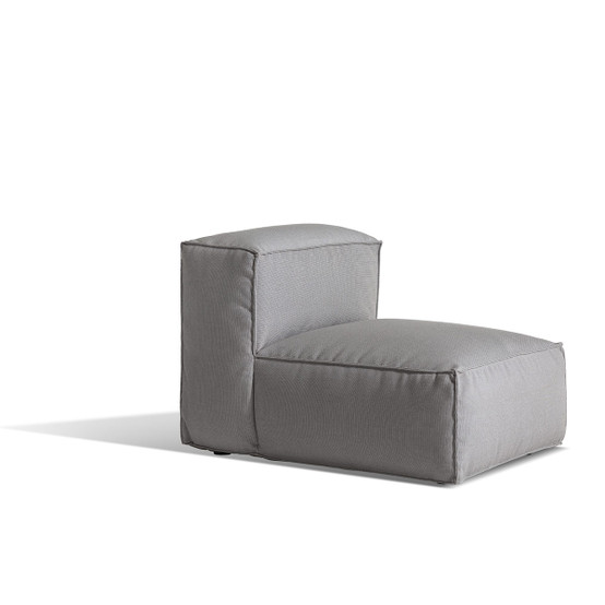 Asker Small Sofa Mid Section with Light Grey Sling Sailing Seagull Cushions