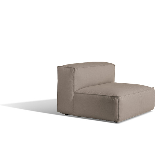 Asker Sofa Mid Section with Beige Sling Logan Taupe Cushions