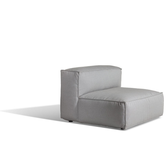 Asker Sofa Mid Section with Light Grey Sling Sailing Seagull Cushions
