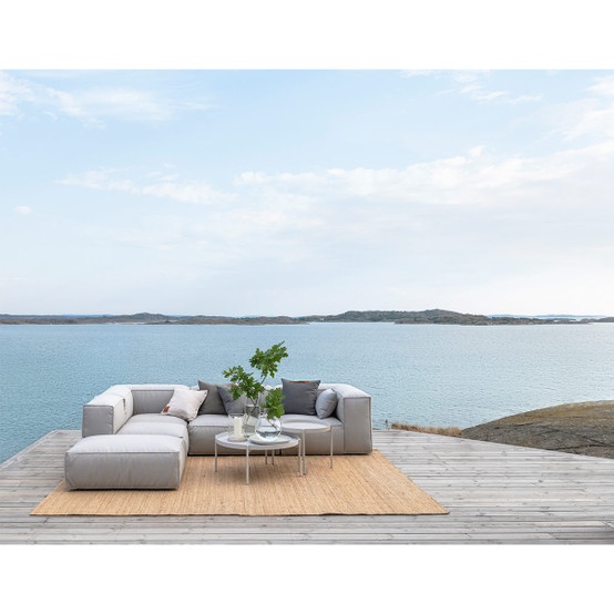Asker Sofa Corner Section with Light Grey Sling Sailing Seagull Cushions
