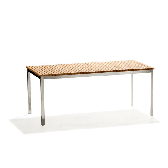 Häringe Large Table with Brushed Stainless Steel Frame