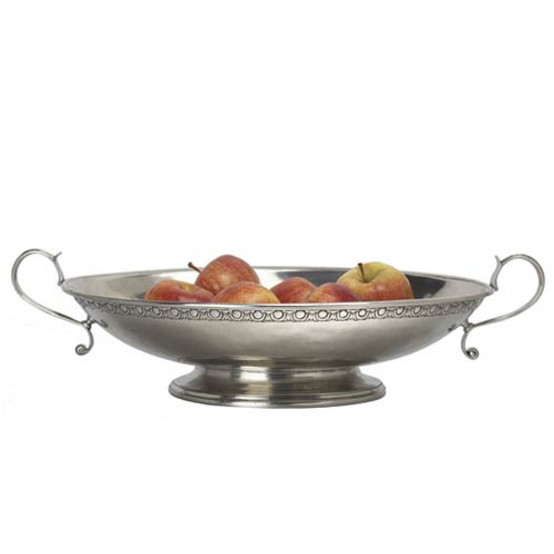 Bordered Oval Footed Centerpiece with Handles