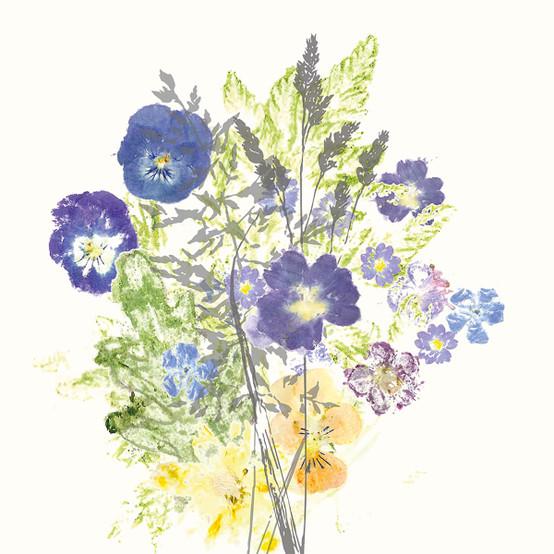 Fleurs Champetres Floraison Napkin
