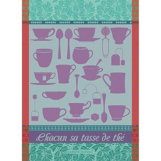 Chacun Sa Tasse Turquoise Kitchen Towel