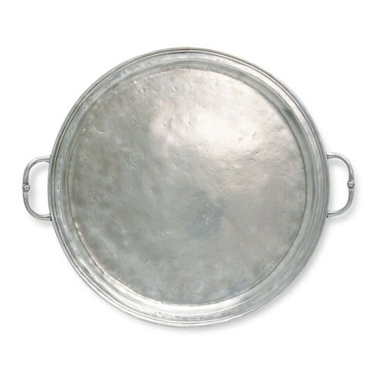 Large Round Tray with Handles