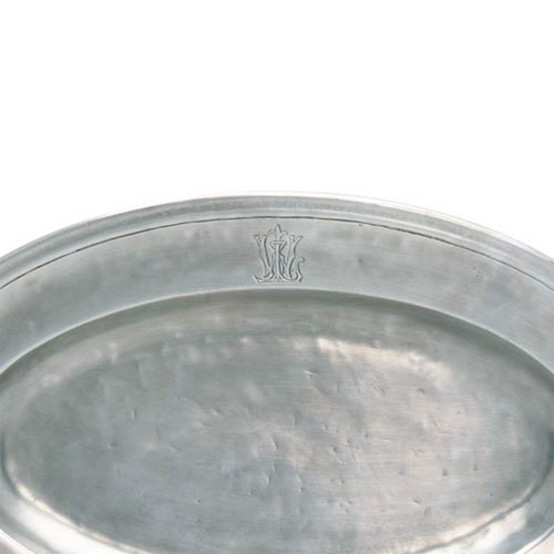 Oval Platter with engraved WL