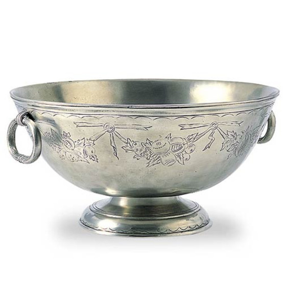 Engraved Deep Footed Bowl