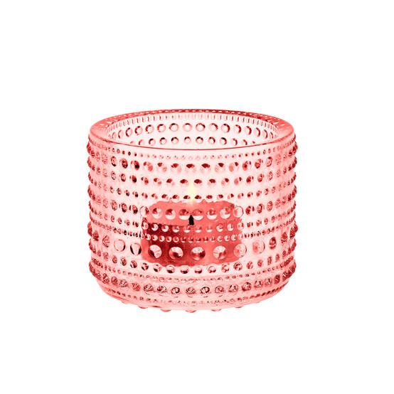 Kastehelmi Tealight Candleholder in Salmon Pink