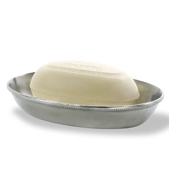 Match Pewter Oval Soap Dish