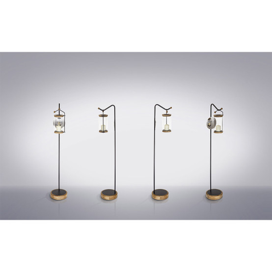 Luna Lantern with Powder Coat Stainless Steel Stand