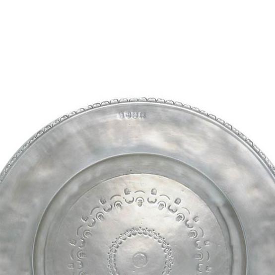 Large Engraved Round Platter