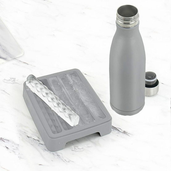 Wide-Mouth Water Bottle Ice Molds (Set of 2)