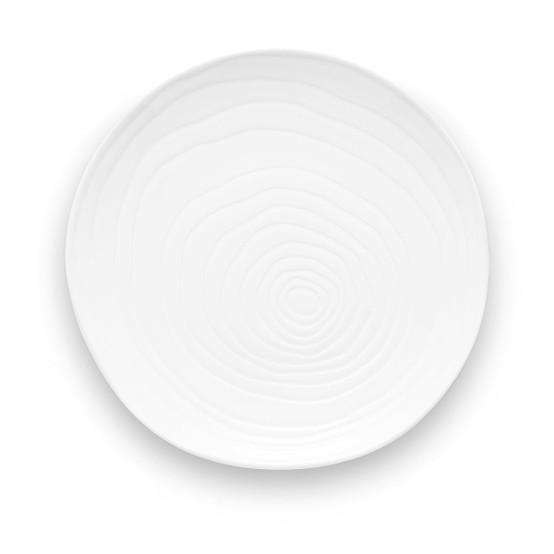 Teck Dinner Plate in White