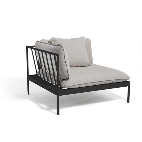 Bönan Lounge Sofa Corner Section with Dark Grey Frame