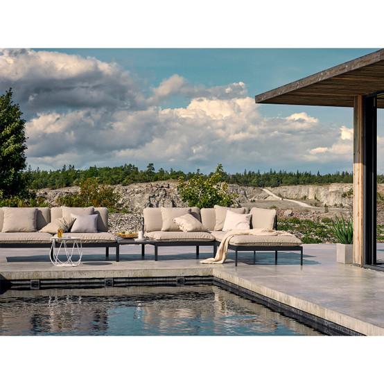 Bönan Lounge Sofa with Dark Grey Frame