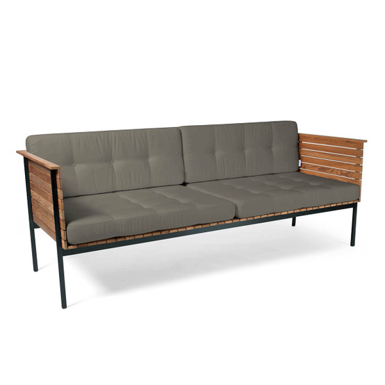 Häringe Lounge Sofa with Black Stainless Steel Frame